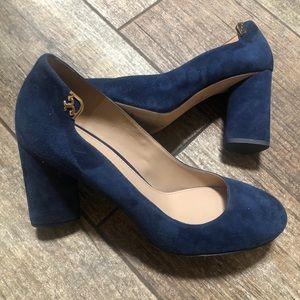 Tory Burch   Blue Chunky Heels
